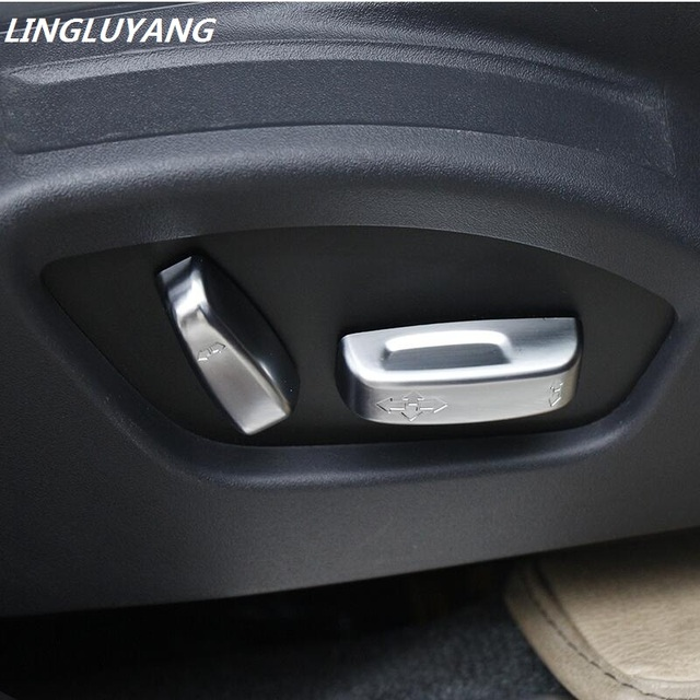 car-styling Seat Adjustment Switch FOR Volvo S40 S60 S80 XC60 XC70 V40 V60 C30 C70 Matte Chrome Trim Cover