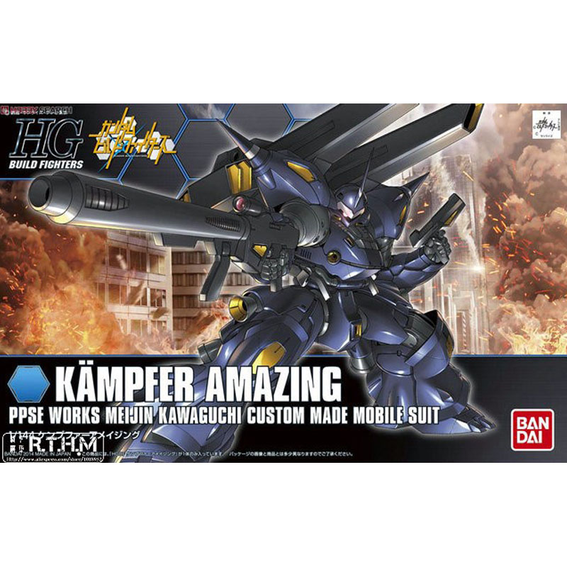 1PC Bandai HG Build Fighters HGBF 008 1/144 Kampfer Amazing Gundam Mobile Suit Assembly Model Kits action figure gunpla juguetes игрушки из сериалов gundam bandai hgbf 38 038 gundam tryon zz