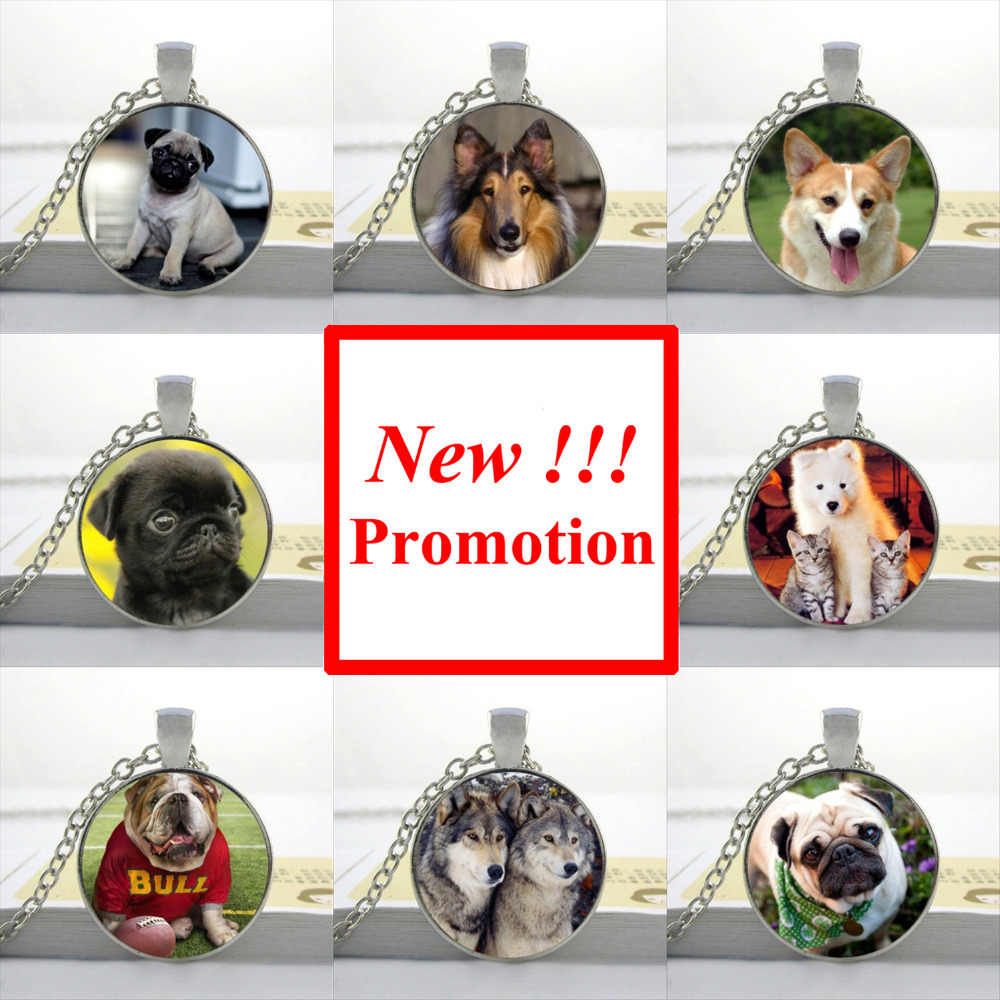 2017 New Fashion Dog Pendant Necklace My Friends Dog Jewelry Gifts For Girl Glass Picture Pendant