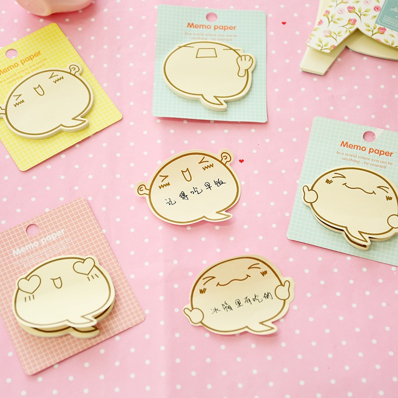 60 pcs/Lot Cute face memo paper Expression stickers bookmark Post guestbook stationery Office material School supplies EM572
