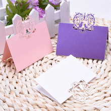 50pcs Laser Cut Place Cards Wedding Name Cards Guest Name Place Card Wedding Party Favor Table Decoration 12type 9x12cm