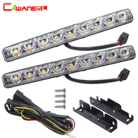 Cawanerl 9 LED Super Bright 30W 2880LM Per Set Car Light Source Fog Lamp Driving Daytime