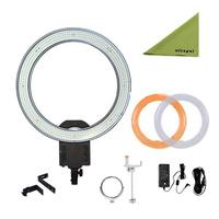 NanGuang CN R640 19 Outer Photography Video Studio 640 LED CRI 95 5600K Dimmable Ring Light for Makeup Photography CD50