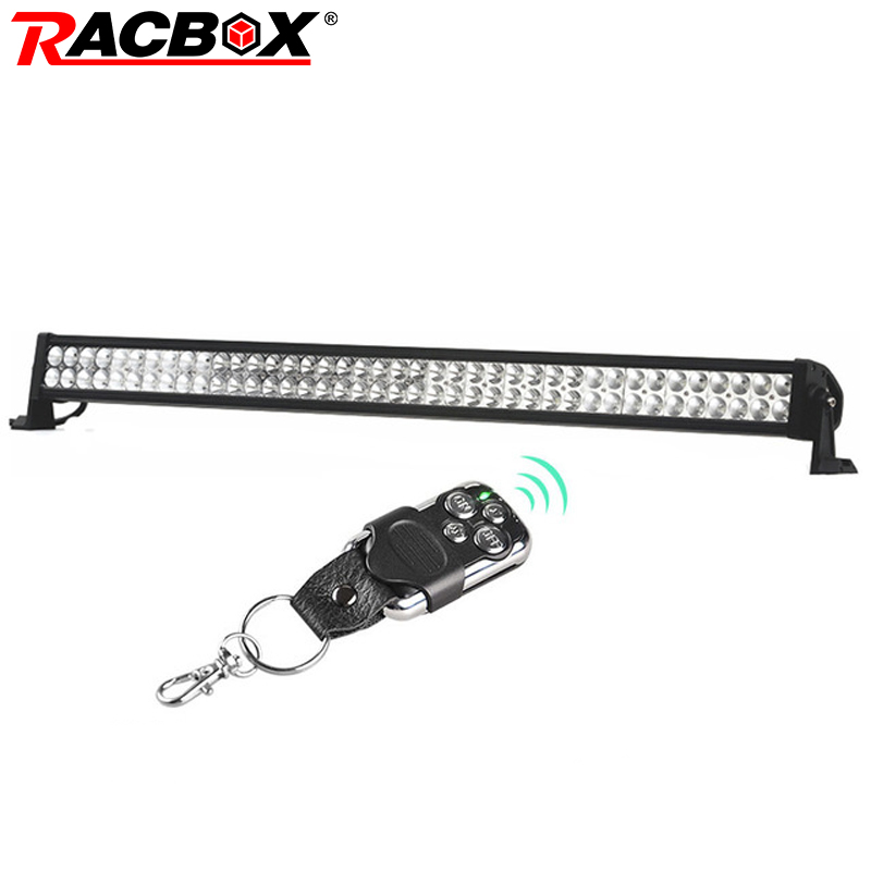 RACBOX 42 inch 240W LED Work Light Bar Combo Beam For Jeep Wrangler Offroad 4x4 4WD Boat SUV Truck Tractor Automobile 12V 6000K