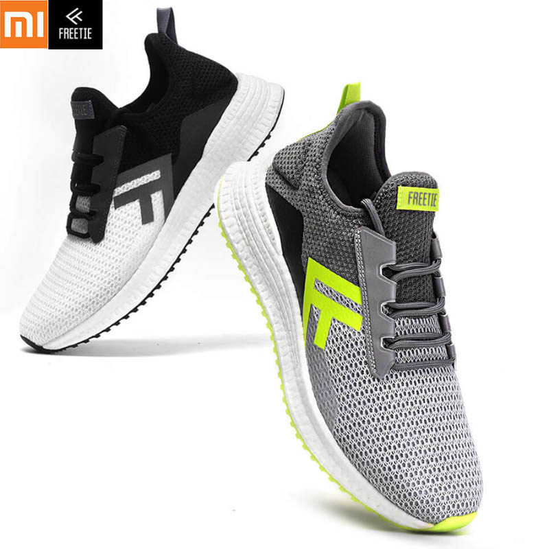 Xiaomi FREETIE Sports Shoes Cross Lightweight Elastic Luminous Breathable Refreshing Damping Non slip Running Sneaker For