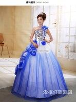 Plata de las lentejuelas grano del azul real vestido medieval vestido renacentista princesa Victorian gótico / Marie antonieta / Colonial bola de la belleza