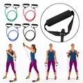 120 cm yoga cuerda de tiro gimnasio workout yoga bandas de resistencia a la tracción de goma cuerda equipo crossfit expander envío gratis