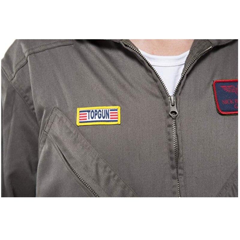 318a8b7222e ... Men s Pilot Aviator Top Gun Costume Adult Halloween Overalls Flight Suit  Movie Cosplay Policeman Party Adult ...