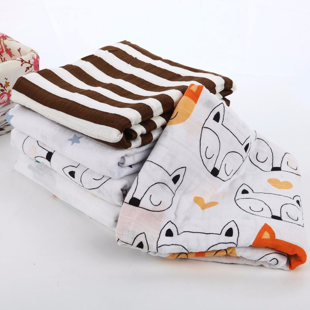 Muslinlife 120x120cm Bamboo Cotton/cotton/bamoo Muslin Baby Swaddling Blanket,Newborn Infant Swaddle Towel