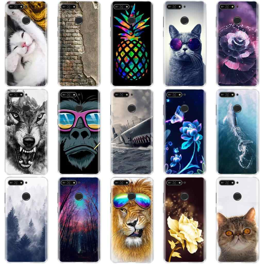 For on Honor 7A Case Silicon Cover For on Honor 7A Pro Case Protective For Huawei Y6 2018 / Y6 Prime 2018 / Enjoy 8e Phone Cases
