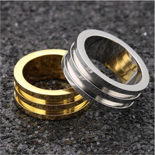 R07 Titanium Women Men Width 10MM Rings 316L Stainless Steel IP Plating No Fade Good Quality Cheap Jewelry