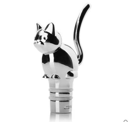 Home Kitchen Barware Bar Tools Zinc alloy lovely cat rabbit Red wine stopper