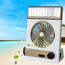 3 in 1 Multi-function Portable Mini Fan LED Table Lamp Flashlight Solar Light for Home Outdoor Camping ALI88