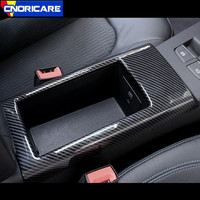 Car Center Console Armrest Storage Box Frame Decoration Cover Trim ABS For Audi A3 8V 2014 18 Interior Carbon Fiber Style