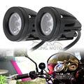 Pair Motorcycle Spot Light Universal 10W 1000LM Motocross Fog Light 6000K LED 4WD for MX Off Road Dirt Bike ATV KTM Yamaha