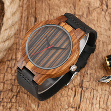 Erkek Saat Simple Wood Watches Men's Minimalist Deisgn WristWatch Original Wooden Bamboo Watch Male Sports Clock Reloj de Madera