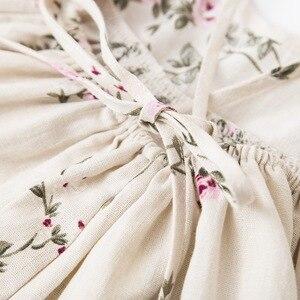Image 5 - Gái Flower Dresses 2018 Trẻ Em Girl Linen In Đầm Trẻ Sơ Sinh Công Chúa Ruffles Váy Bé Gái Quần Áo beb quần áo