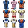 Nova Impresso Camiseta Goku De Dragon Ball Vegeta Homens Armadura 3d T-shirt Tops de Fitness Camiseta Dragon ball z camisas de t para homens
