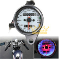 Universal Motorcycle Dual Speedometer Odometer Gauge LED Backlight Signal Light for Harley Yamaha Suzuki Honda Kawasaki