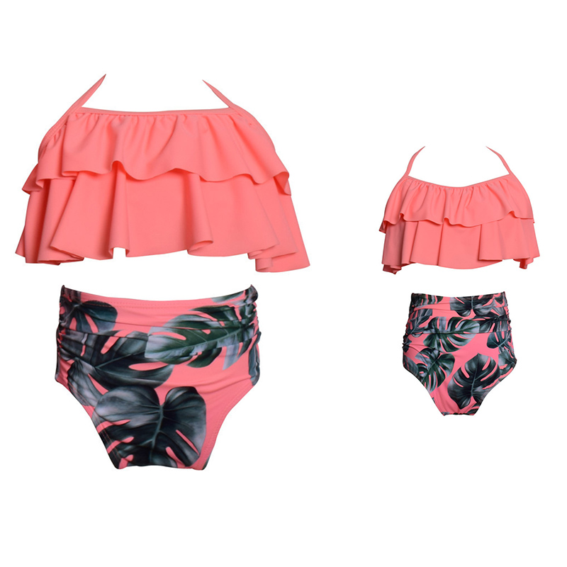 Matching Family Bathing Suits Mother Girl Bikini Swimsuit For Mom and Daughter Swimsuits Female Children Baby Kid Beach Swimwear