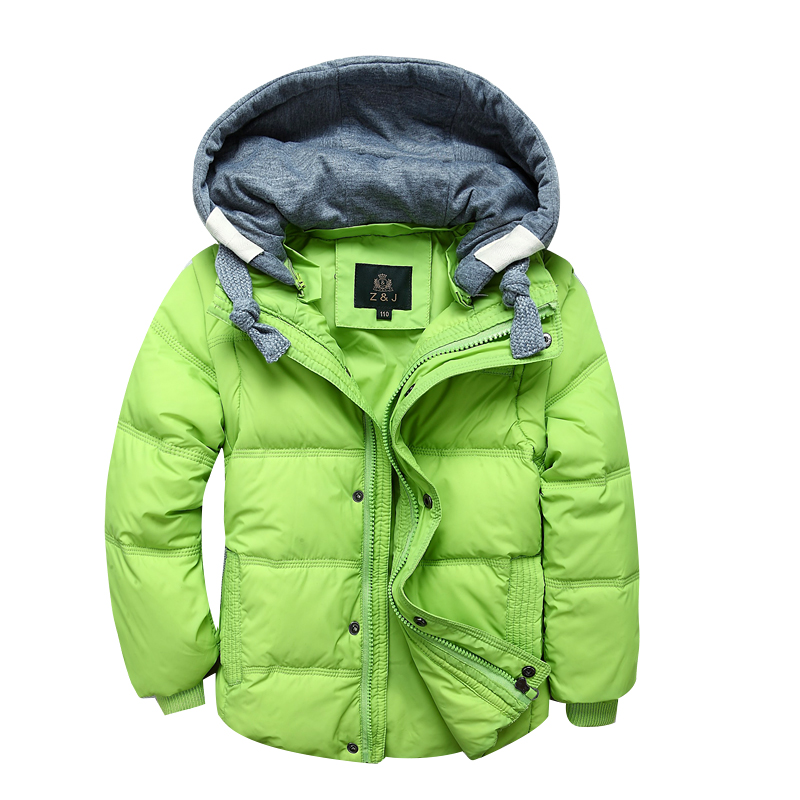 Boys Winter Outwear Jackets Hooded-Coats Outdoor Kids Children's Warm-Down Thick 3-11Y