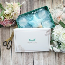 22*15*5cm 5pcs classic white green leave Paper Box as Macaron Chocolate cookie wedding Birthday Party Gifts Packaging