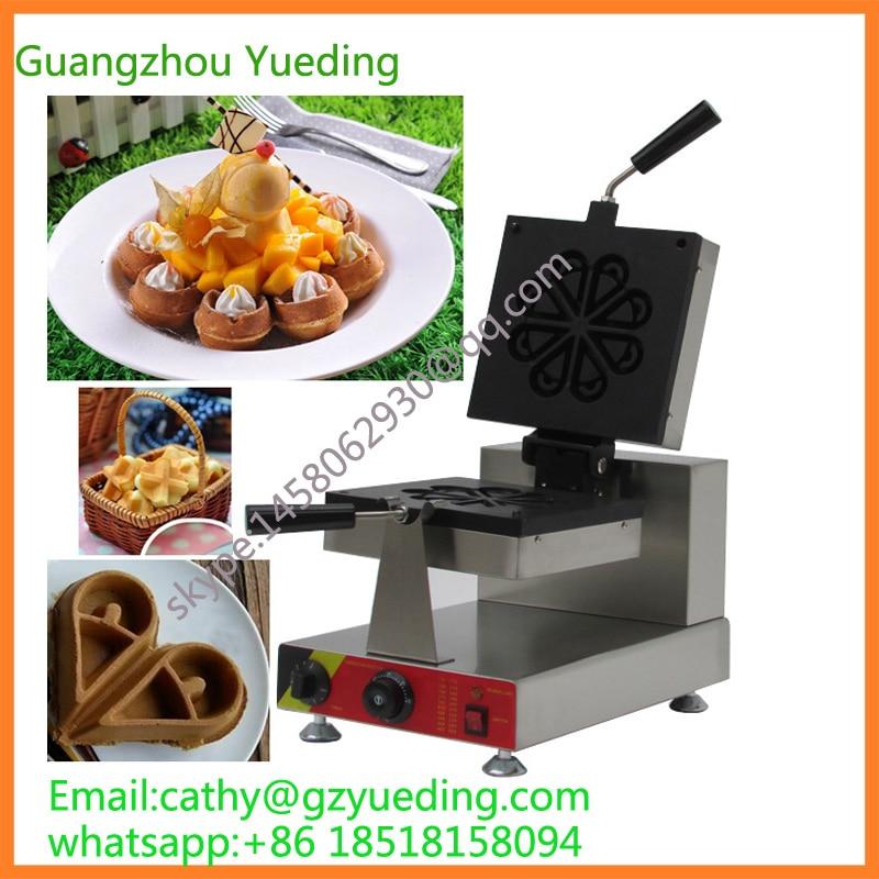 Machine de gaufre de forme de gouttelettes d'eau de vente chaude/gaufrier de rotation de forme spéciale