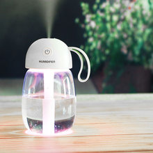 300ml Ultrasonic Air Humidifier Mini Aroma Humidifier Air Purifier with LED Lamp Humidifier for Portable Diffuser Mist Maker Fog(China)