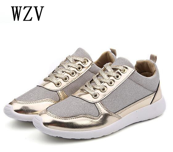 Fooraabo 2018 Summer Women Casual Shoes Female Platform Shoes Slip On Women Flat Tenis Feminino Casual Ladies Shoes Flats Silver lanshulan bling glitters slippers 2017 summer flip flops platform shoes woman creepers slip on flats casual wedges gold