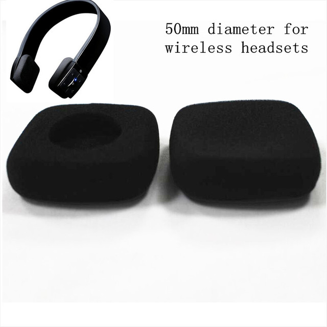 45760b91ecf Linhuipad 50 pack 5cm Headset Foam Ear Pads Soft Ear Cushion Headphone  Sponge Earpads 50mm diameter for jaybird wireless headset