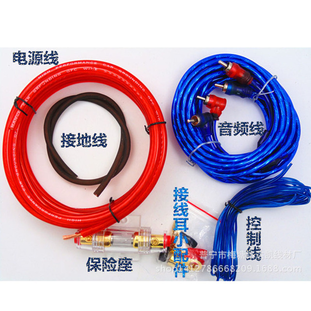 Special Offers Hot Selling 8GA 1500W Fuse Holder Wire Cable Kit Subwoofer Amplifier Car Audio AMP Wiring