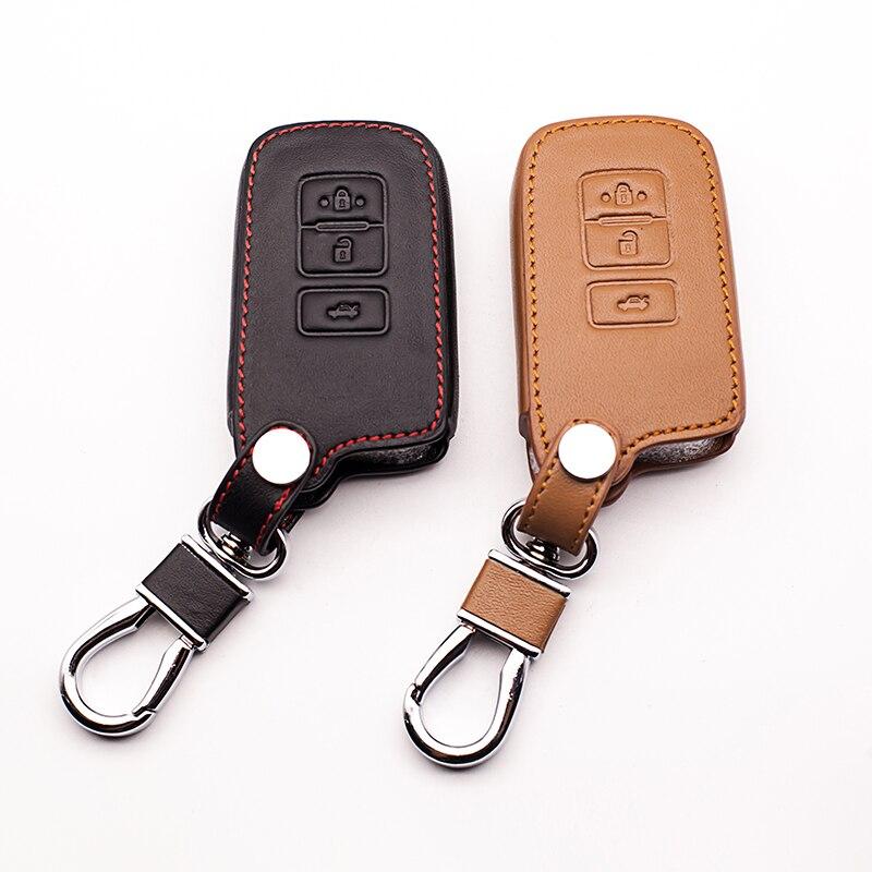 Горячая Распродажа, чехол из натуральной кожи для Toyota Camry Avalon rav4, чехол для автомобильного ключа с 3 кнопками, чехол для автомобиля