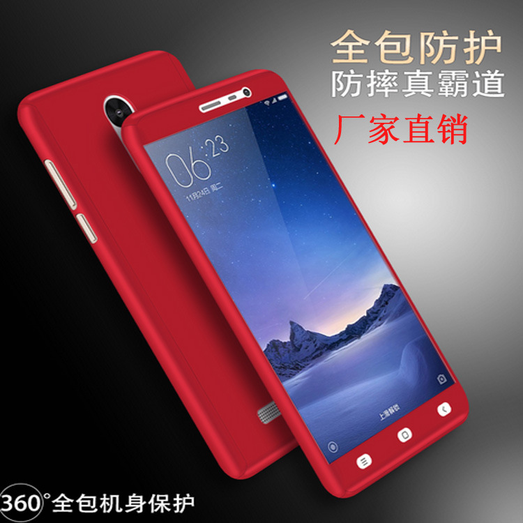 the latest bed22 ffad6 US $3.5 |Xiaomi redmi note 3 pro fitted case 2017 new product 360 Degree  Full body cover For Xiaomi redmi note 3 With Tempered Glass gift on ...