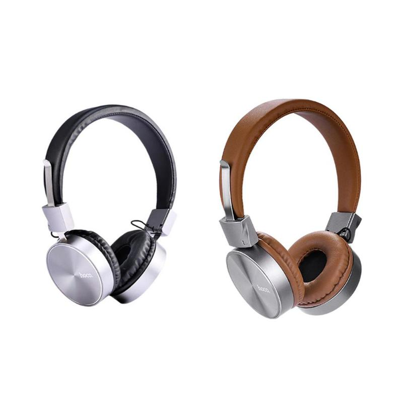 HOCO W2 Universal Foldable Wired Heavy Bass On-ear Handset HIFI Noise Reduction Headphone Earphone with Mic High Quality
