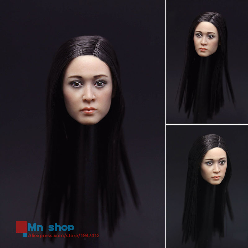 1/6 Beautiful Asia Head Model Female Head Sculpt Head Carving Model +Phicen Body For 12 Action Figure Doll Toys Collection 1 6 popular km 38 female head sculpt model with black hair for 12 female action figure body doll toys