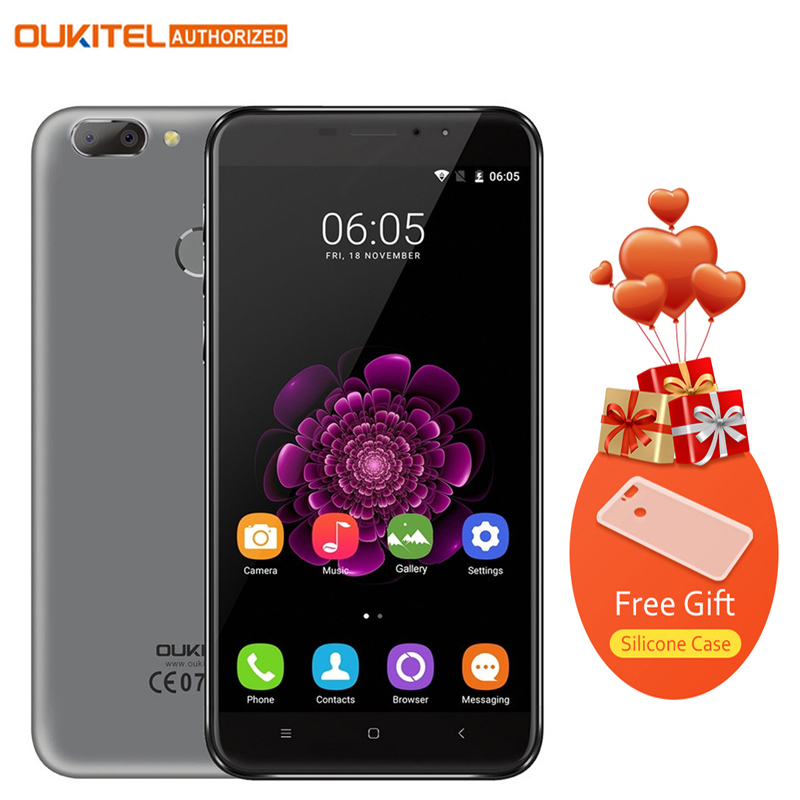 Original Oukitel U20 Plus Android 6.0 4G Mobile phone 5.5 inch IPS FHD MTK6737T Quad Core 13MP 2GB 16GB Fingerprint Smartphone