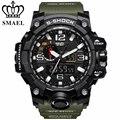 Smael marca sport reloj de los hombres de moda de cuarzo analógico led digital reloj electrónico a prueba de agua relojes militares relogio masculino