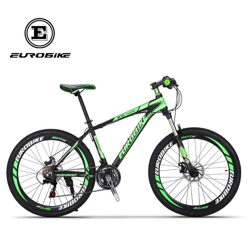 EUROBIKE Shimano 21 Speed Aluminum Mountain bike Dual Disc Brake Mountain bicycle mountain bike four perlin disc hubs 32 holes high quality lightweight flexible rotation bicycle hubs bzh002