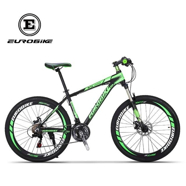 Eurobike Shimano 21 Скорость Алюминий горный велосипед двойной дисковый тормоз горный велосипед