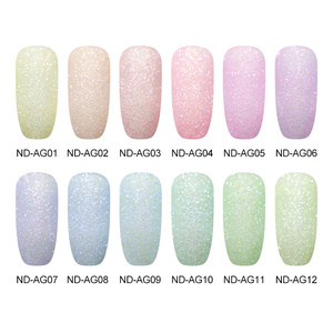 Image 3 - NICOLE DIARY Blinking Dipping Nail Powder Colorful Sweet Dip Glitter Chrome Nail Art Decorations Dipping Base Top Activator