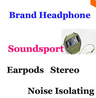 Brand 3 5mm Stereo Earphone In Ear Earphone Noise Isolating Earbuds With Remote Volume Control Mic