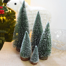 2017 new artificial christmas trees mini christmas decoration supplies small simulation plant snowy desktop christmas trees - Mini Artificial Christmas Trees