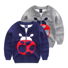 Boys long sleeve sweater Baby cardigan sweater children's wear in the spring of 2016 the new children beetle leisure coat