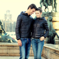 2016 outono inverno mulheres casaco homens jaqueta de algodão acolchoado jaqueta Com Capuz parka Inverno Amassado sólida casaco curto outwear plus size