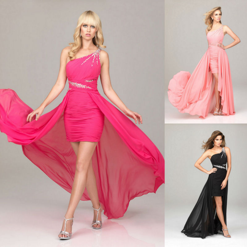 Encantador Vestido Rosado Y Negro Del Partido Ornamento - Ideas de ...