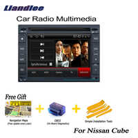 Liandlee 2 din Car Android GPS Navi Navigation Maps Radio CD For Nissan Cube 2009~2013 DVD Player Audio Video Stereo OBD2 TV