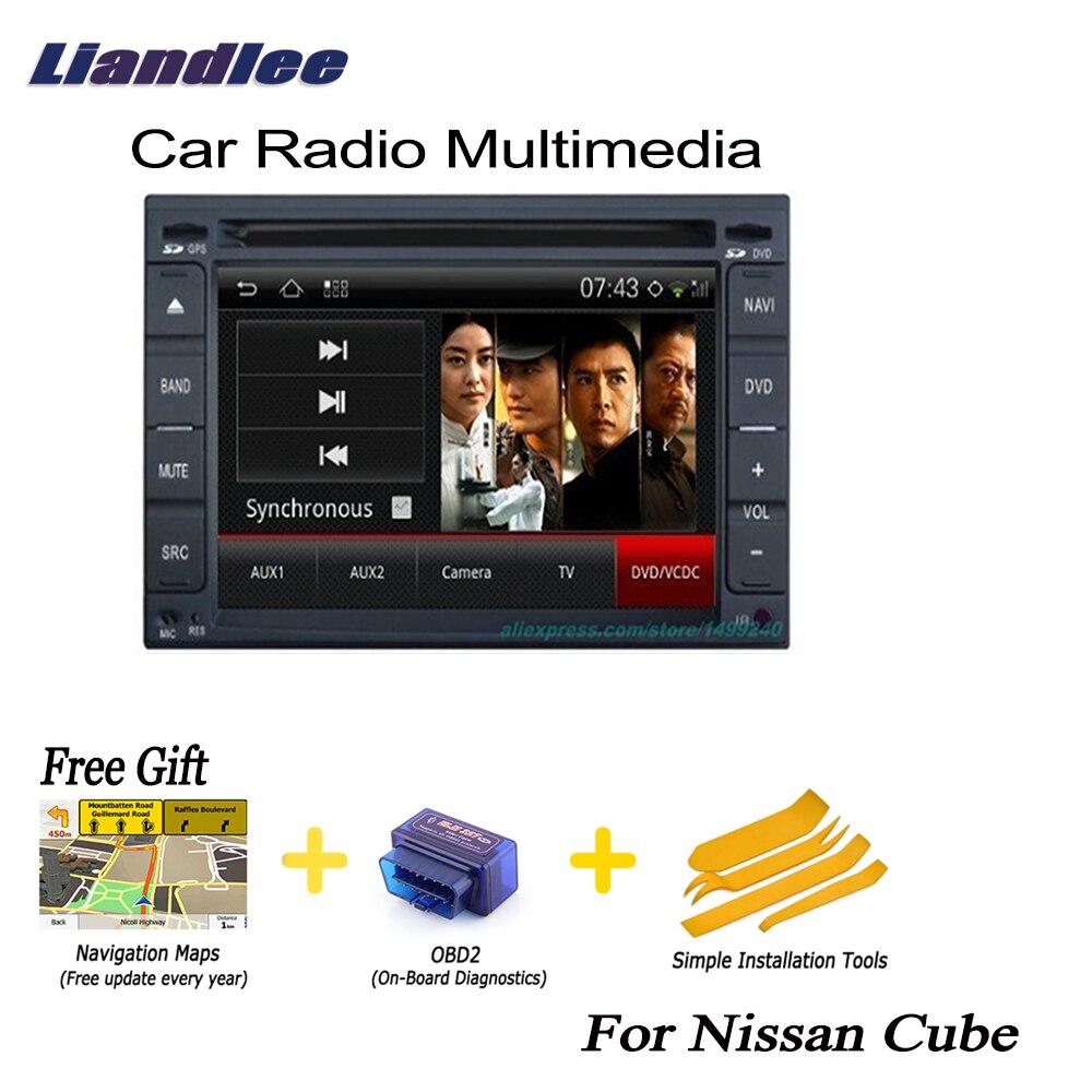 Liandlee 2 din voiture Android GPS Navi Navigation cartes Radio CD pour Nissan Cube 2009 ~ 2013 lecteur DVD Audio vidéo stéréo OBD2 TV