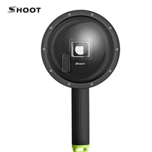 SHOOT 6 inch Diving Dome Port for GoPro 4 3+ Action Camera with Waterproof Housing case, Floaty Handle Pole GoPro Accessary