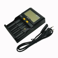 C4 Miboxer Battery Charger Smart 4 LCD Slots For 10340 10440 AA AAA 14500 18650 26650