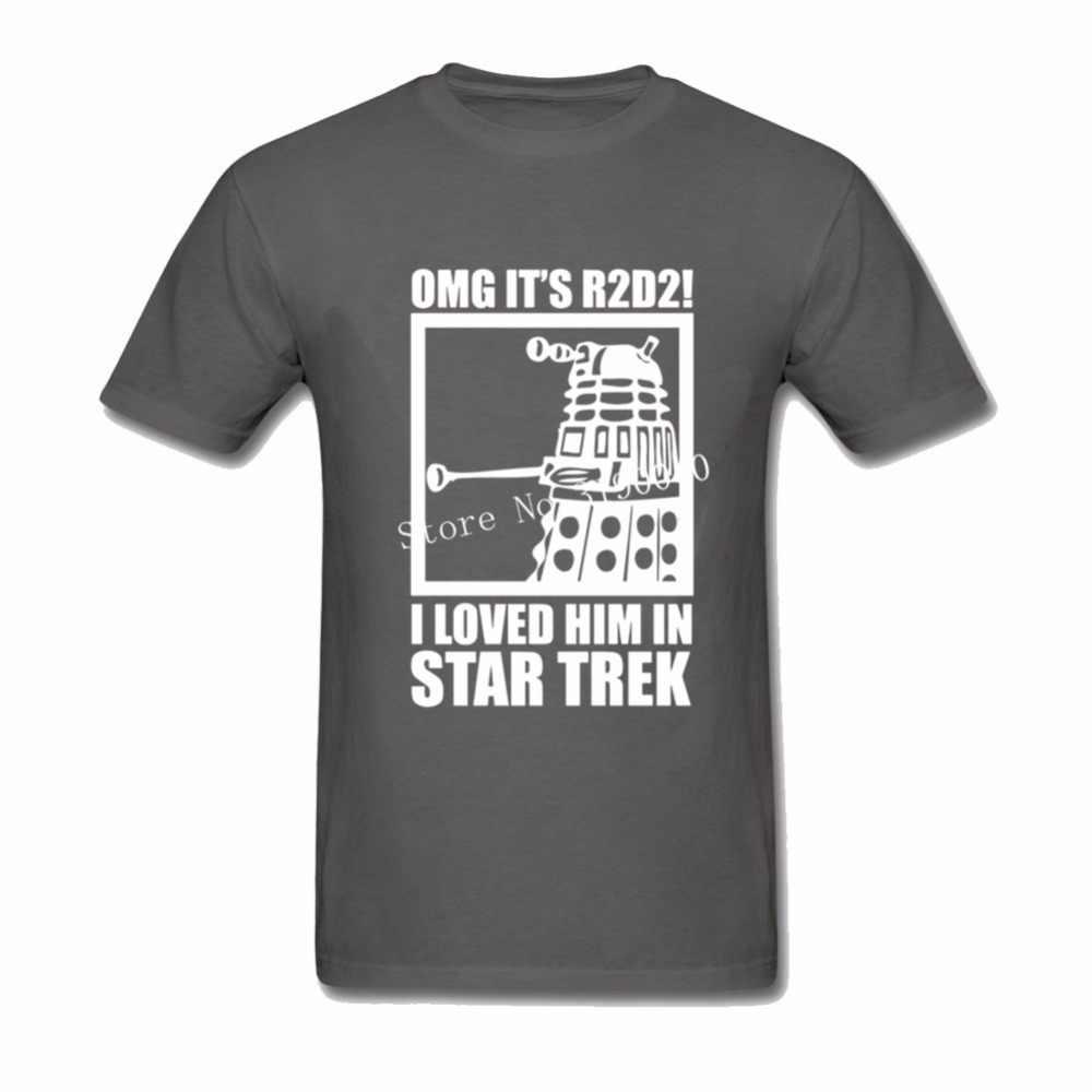 R2D2 · スターウォーズ Tシャツ男性 2018 新博士は誰 Trek メンズ半袖コットン面白い男性の Tシャツトッププラスサイズグラフィック